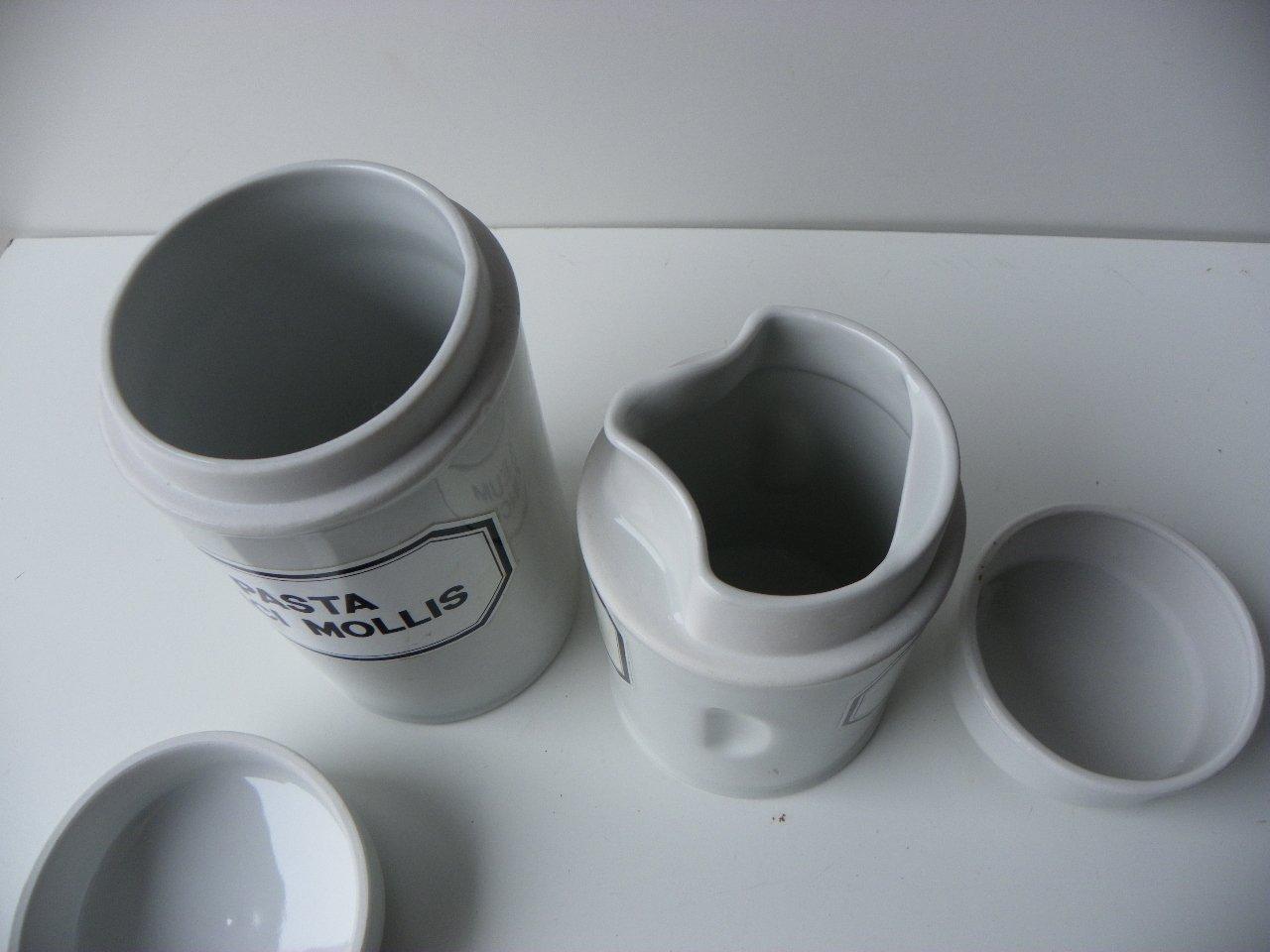 Vasetti da farmacia vintage bavaresi in porcellana set di in