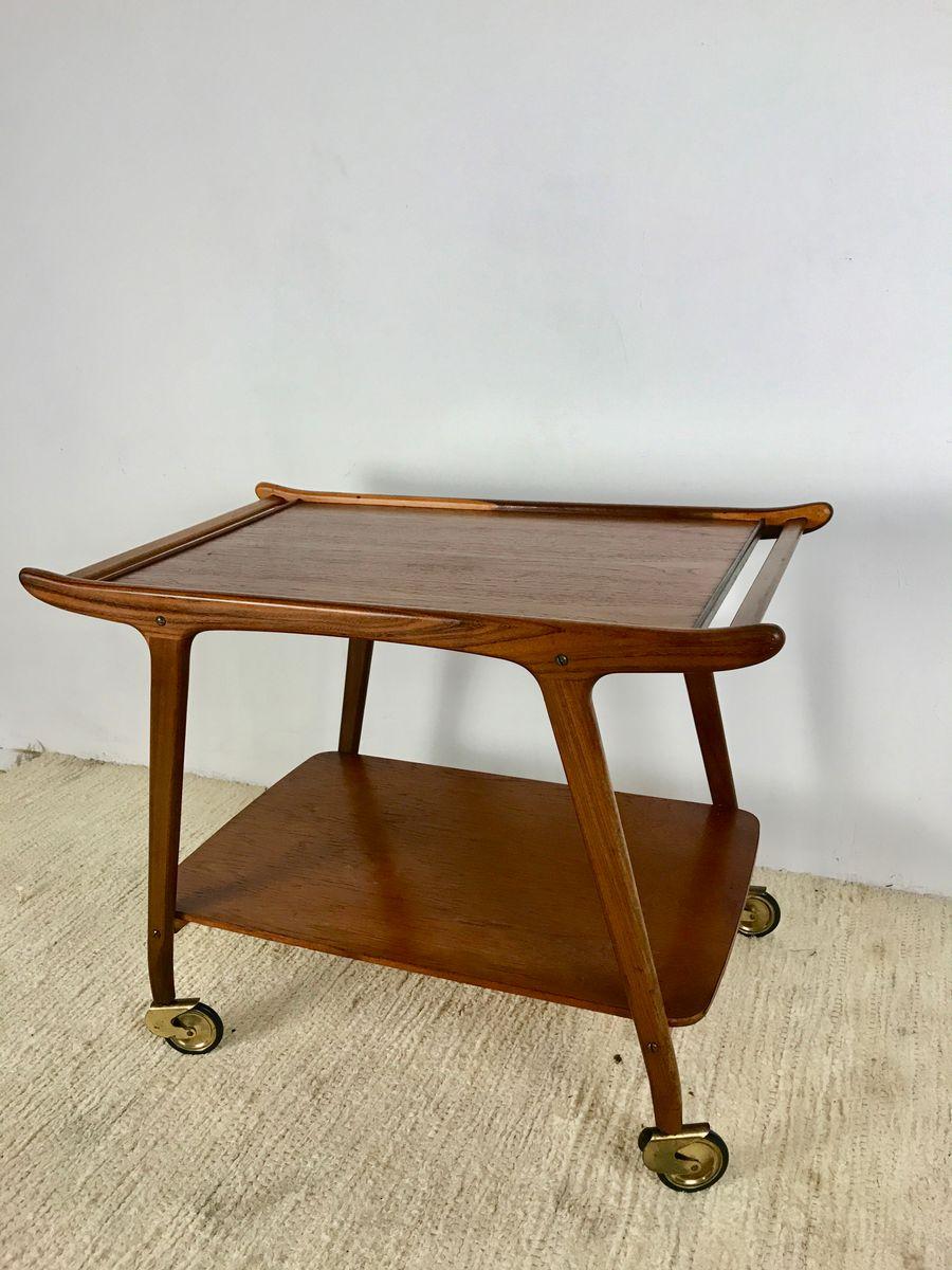 d nischer vintage teak servierwagen 1960er bei pamono kaufen. Black Bedroom Furniture Sets. Home Design Ideas
