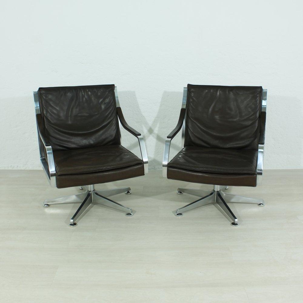 Sessel aus Leder von Rudolf Bernd Glatzel für Knoll Inc, 1970er, 2er S...