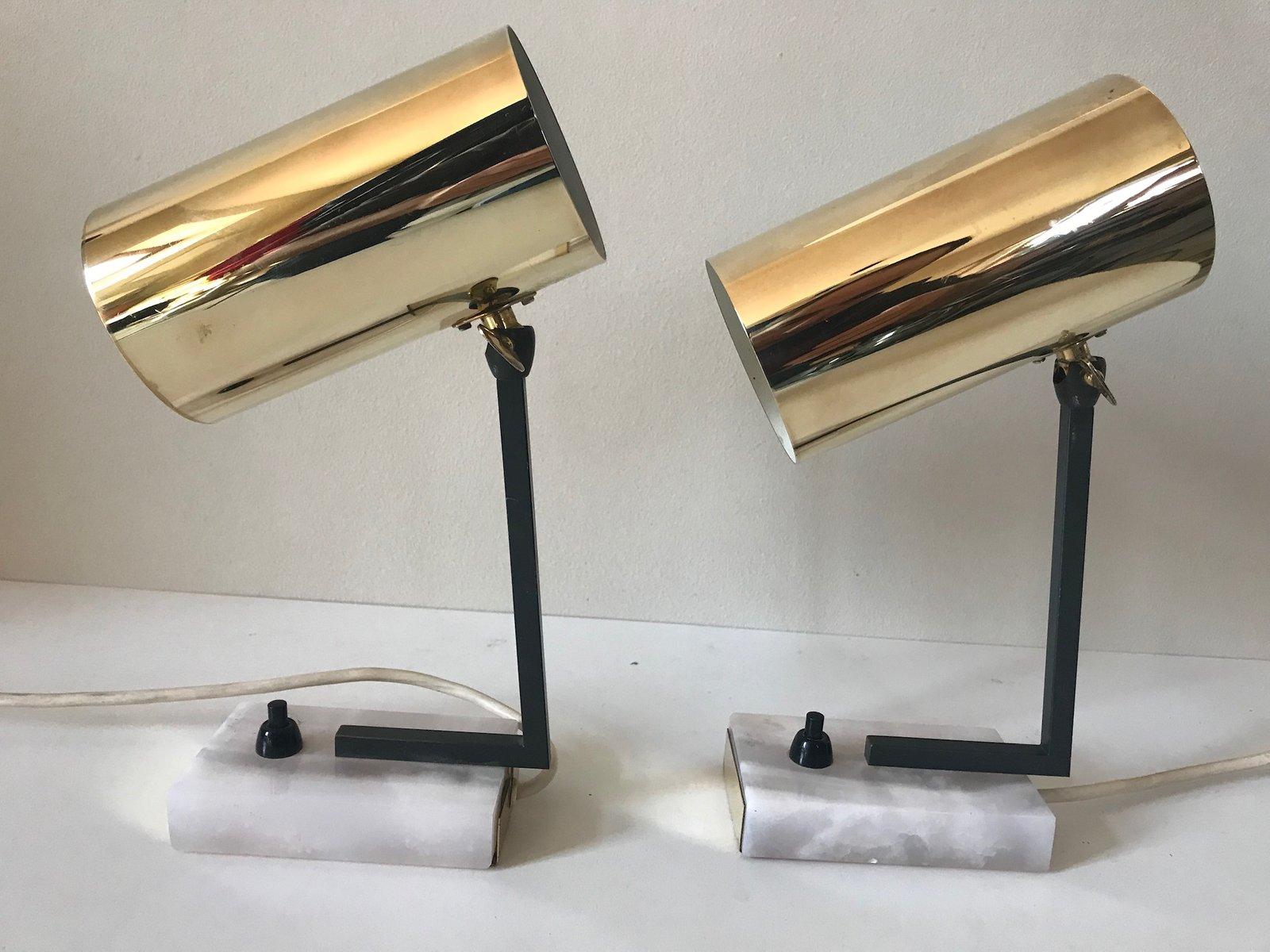 Vintage Tischlampen aus Messing, 1960er, 2er Set