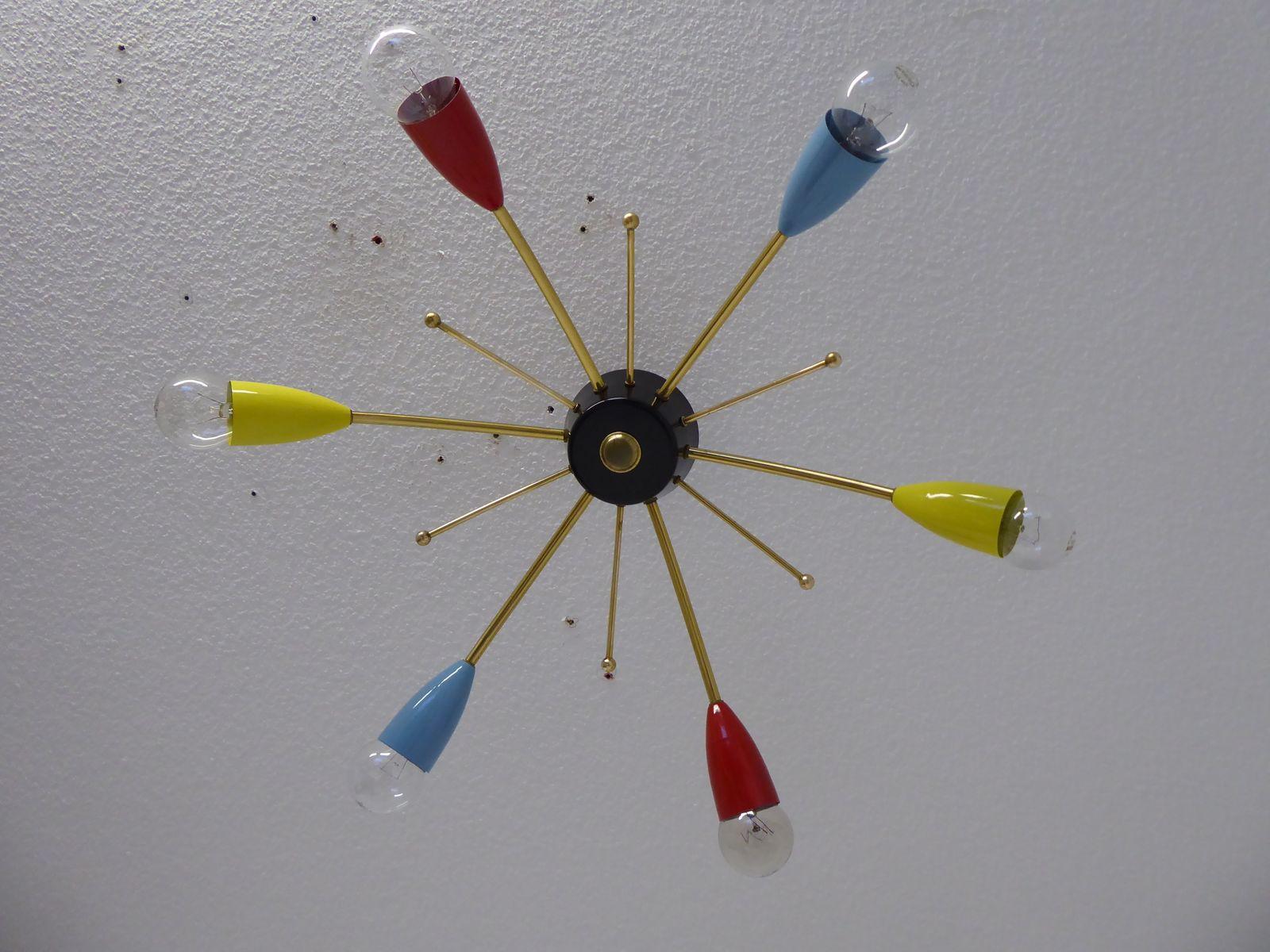 Mid-Century Sputnik Deckenleuchte, 1950er