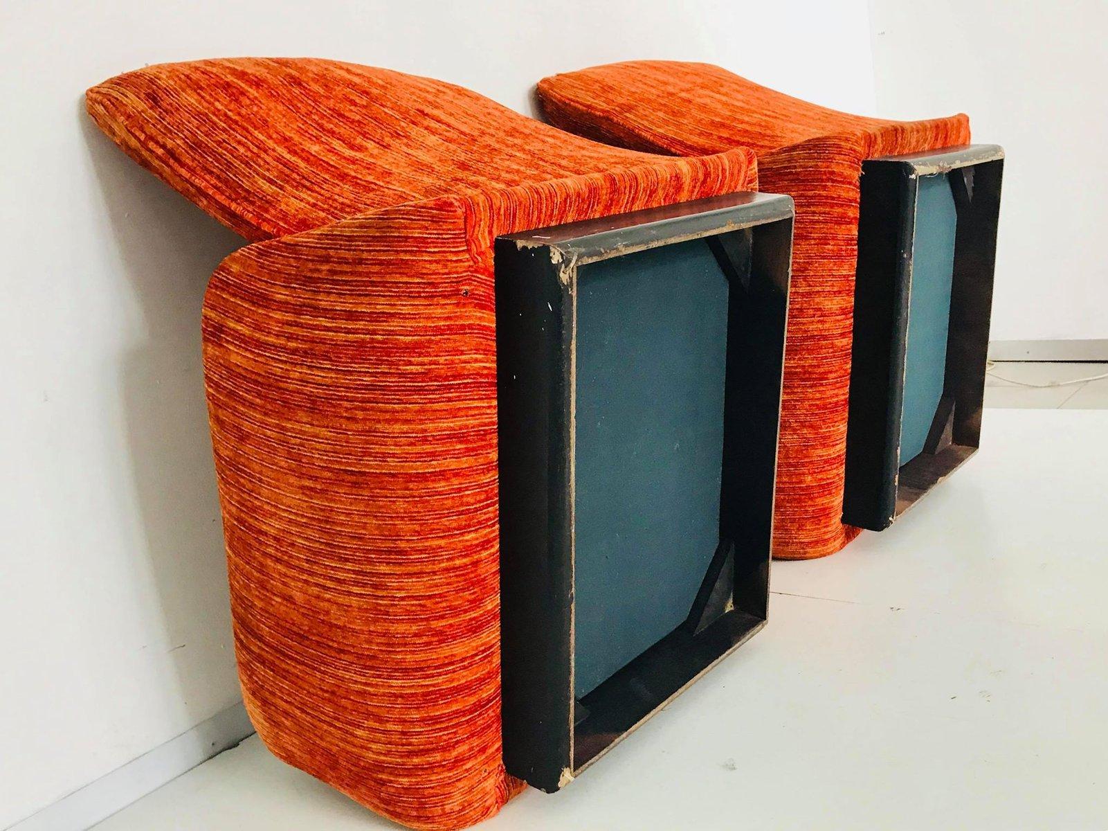 Italienischer Vintage Velours Sessel von Saporiti, 1970er