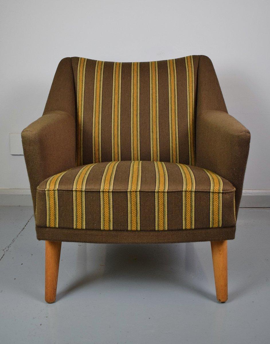 Sessel des Modells 54 Brown aus Wolle von Kurt Østervig für Henry Rols...