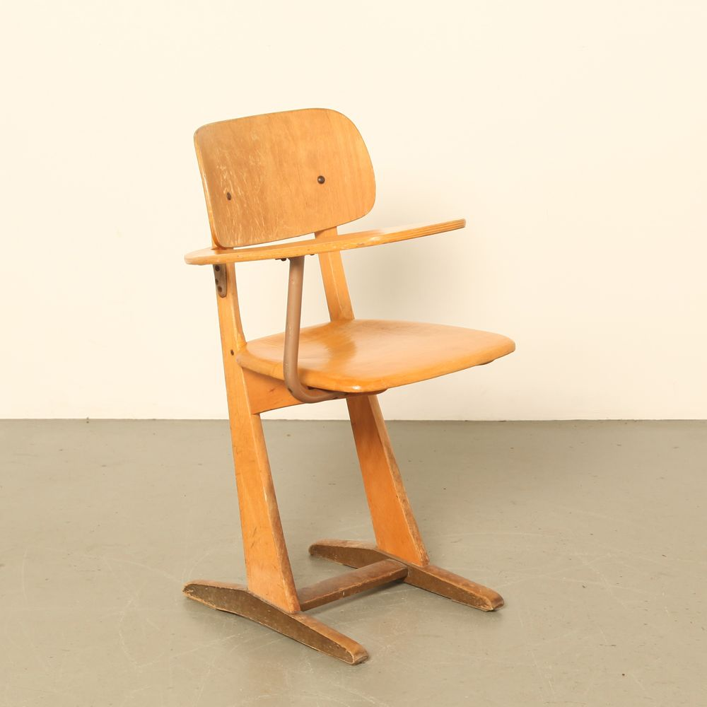 Vintage School Desk Chair By Carl Sesse For Casala