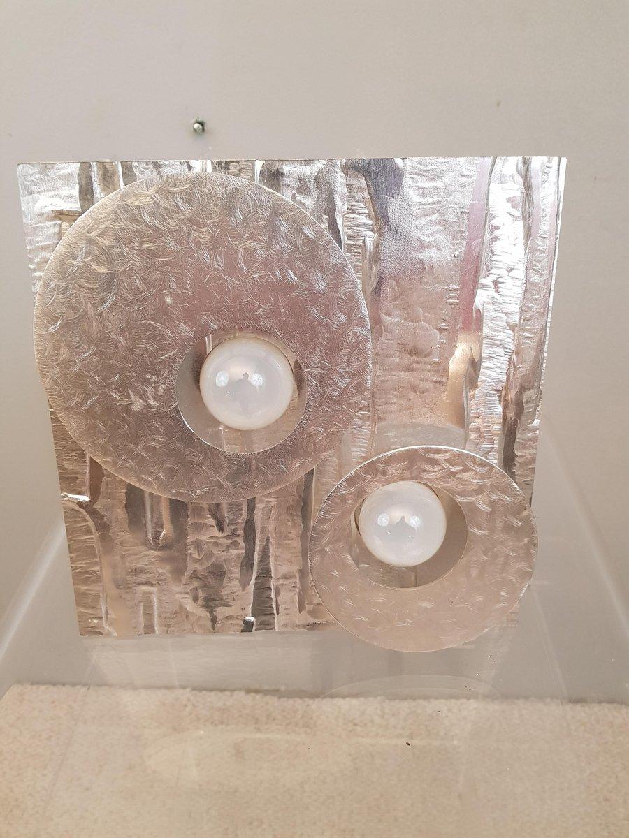 Aluminium Wandlampe von LUMALUX 2000, 1970er
