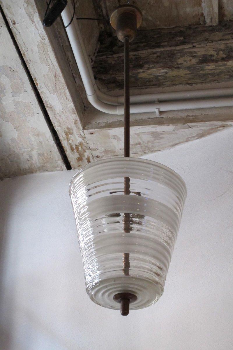 Italienische Vintage Murano Glas Hängelampe