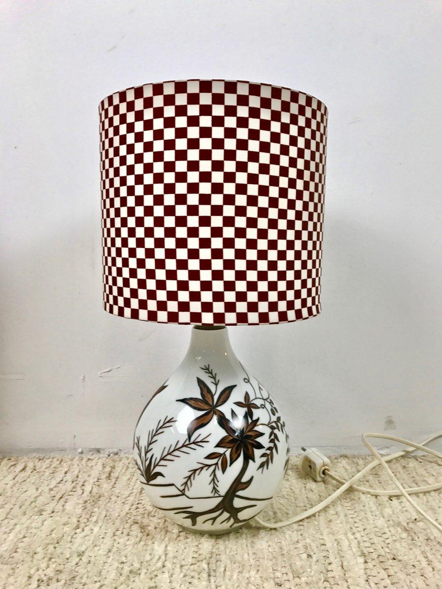 Deutsche Vintage Lampe aus Porzellan von Heinrich Selb