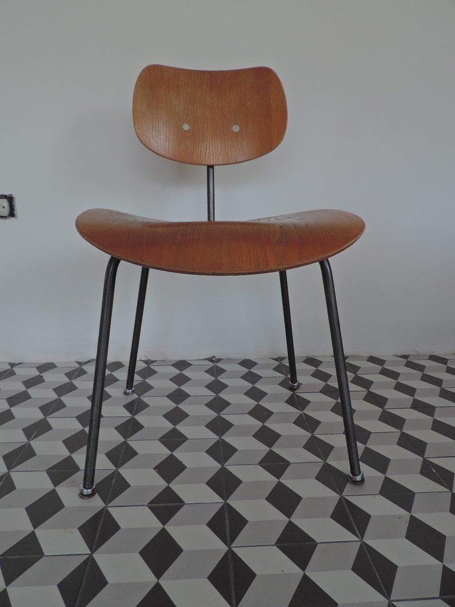 Vintage Walnut Veneer Chair By Egon Eiermann For Wilde Spieth