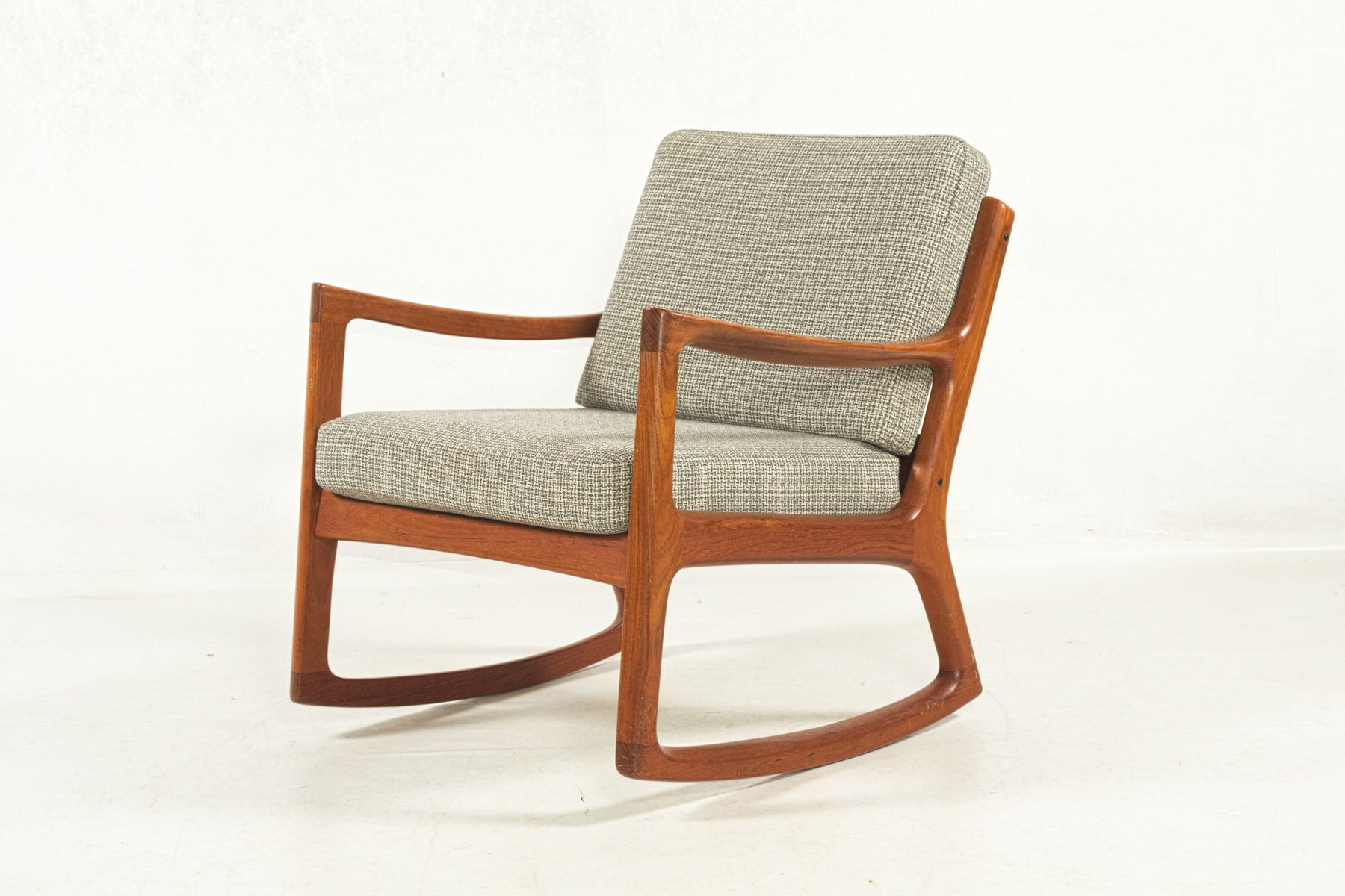 Teak Rocking Chair By Ole Wanscher For France Søn 1960s