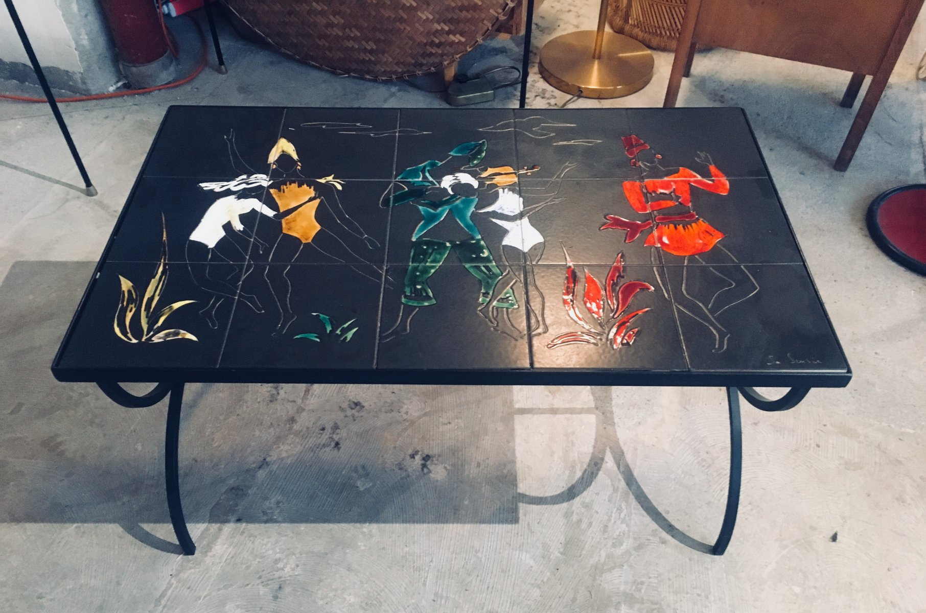 Tisch aus Keramik, 1950er