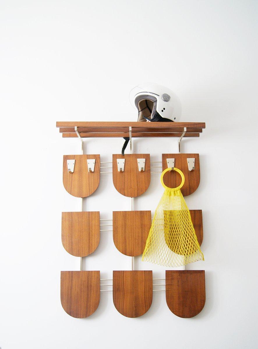 console murale mid century avec etag re chapeaux en vente sur pamono. Black Bedroom Furniture Sets. Home Design Ideas