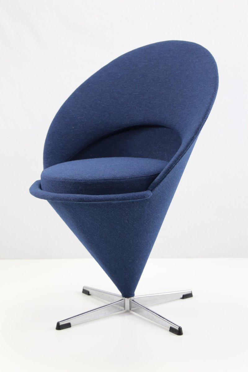 blauer vintage cone chair von verner panton bei pamono kaufen. Black Bedroom Furniture Sets. Home Design Ideas