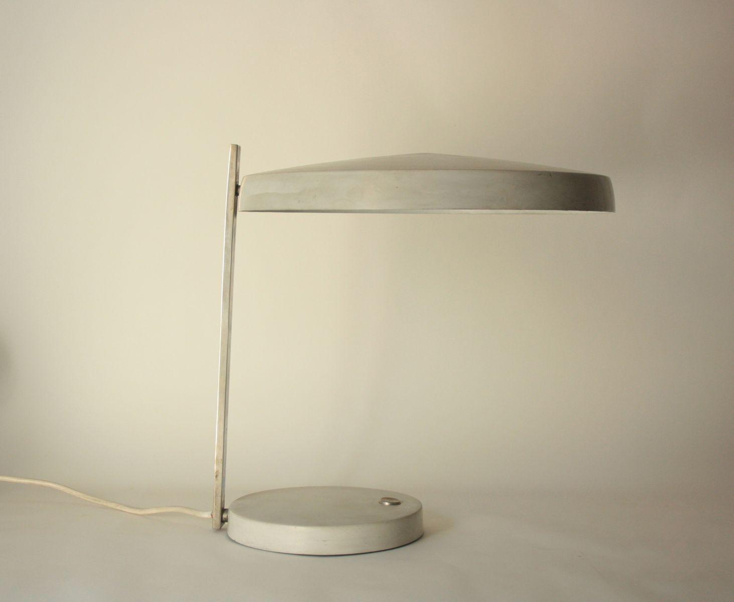 Große Vintage 7440-211 Schreibtischlampe in Grau von Heinz Pfaender fü...