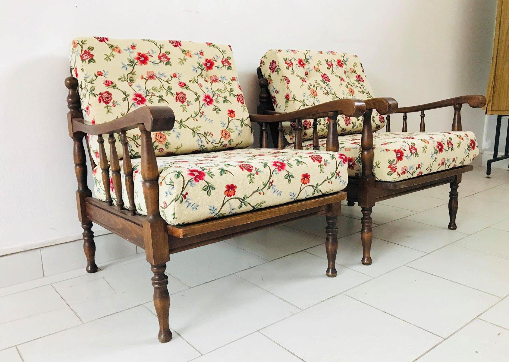 poltrone rustiche in stoffa floreale italia anni 39 20