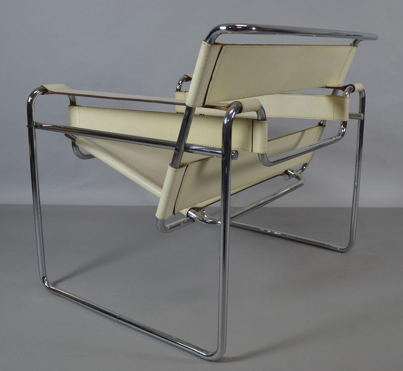 wassily stuhl von marcel breuer f r knoll inc 1980er bei. Black Bedroom Furniture Sets. Home Design Ideas