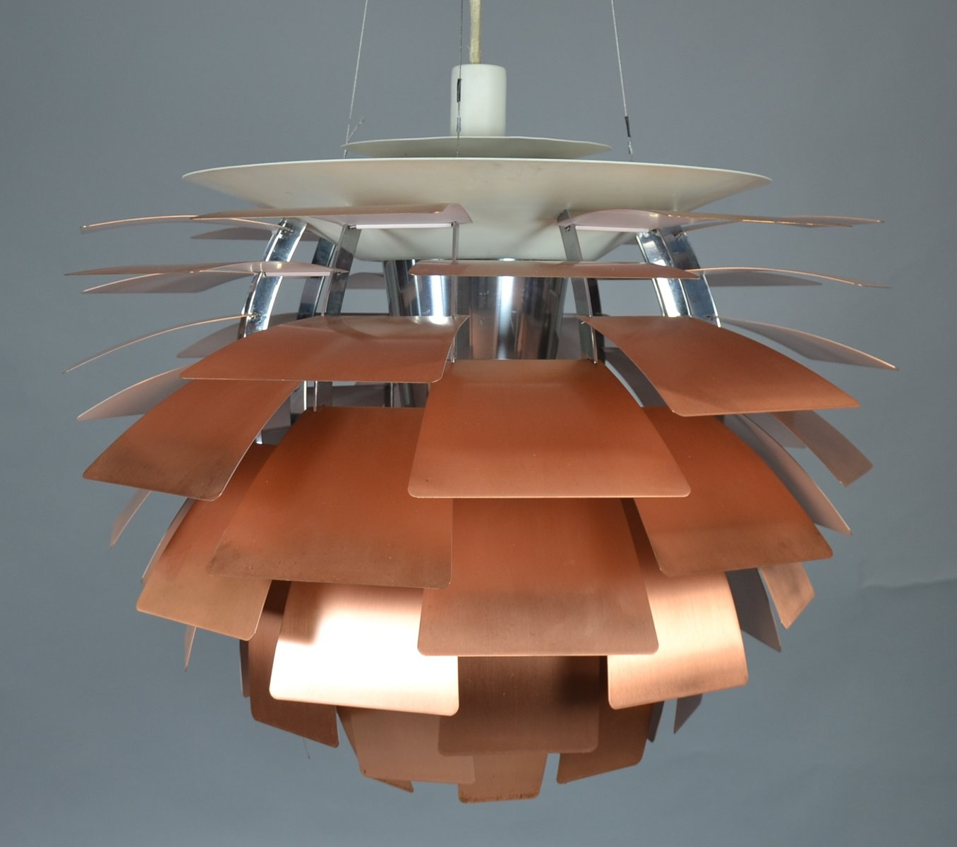 Ph artichoke copper lamp by poul henningsen for louis poulsen 1950s