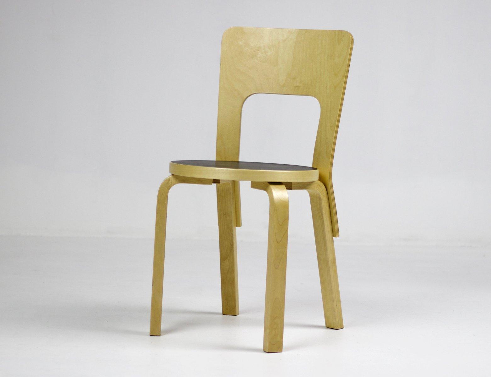 Chaise Modle 66 Vintage Par Alvar Aalto Pour Artek
