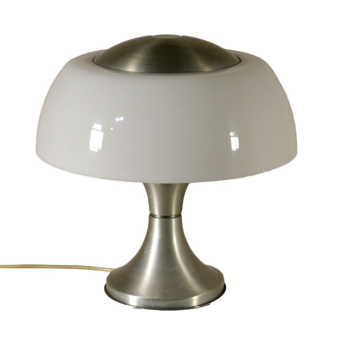 Tischlampe aus Verchromtem Aluminium und Plexiglas von Gaetano Sciolar...