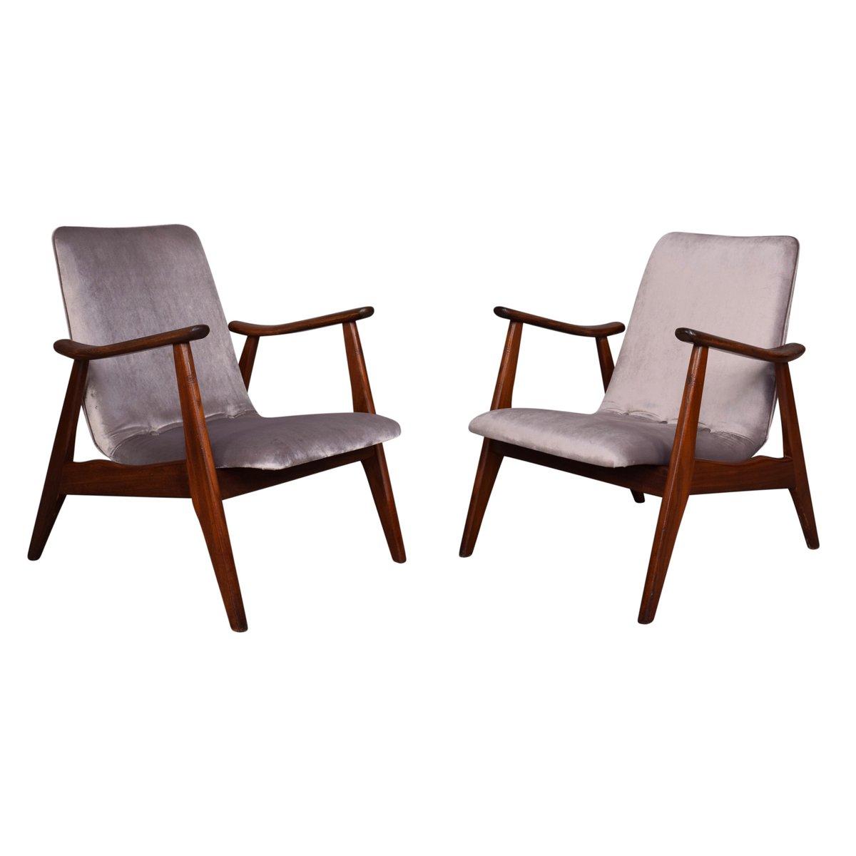 Sessel von Louis Van Teeffelen für Webe, 1960er, 2er Set