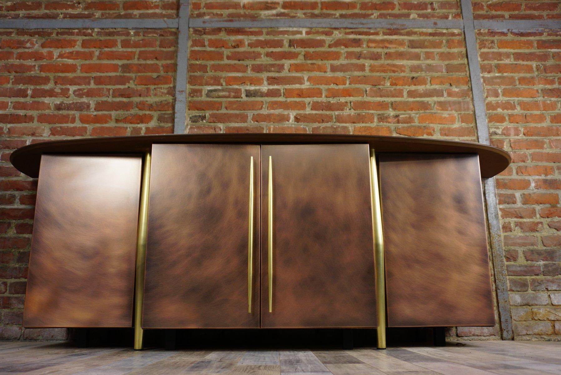 Vintage Sideboard aus Kupfer und Messing von Belgo Chrom