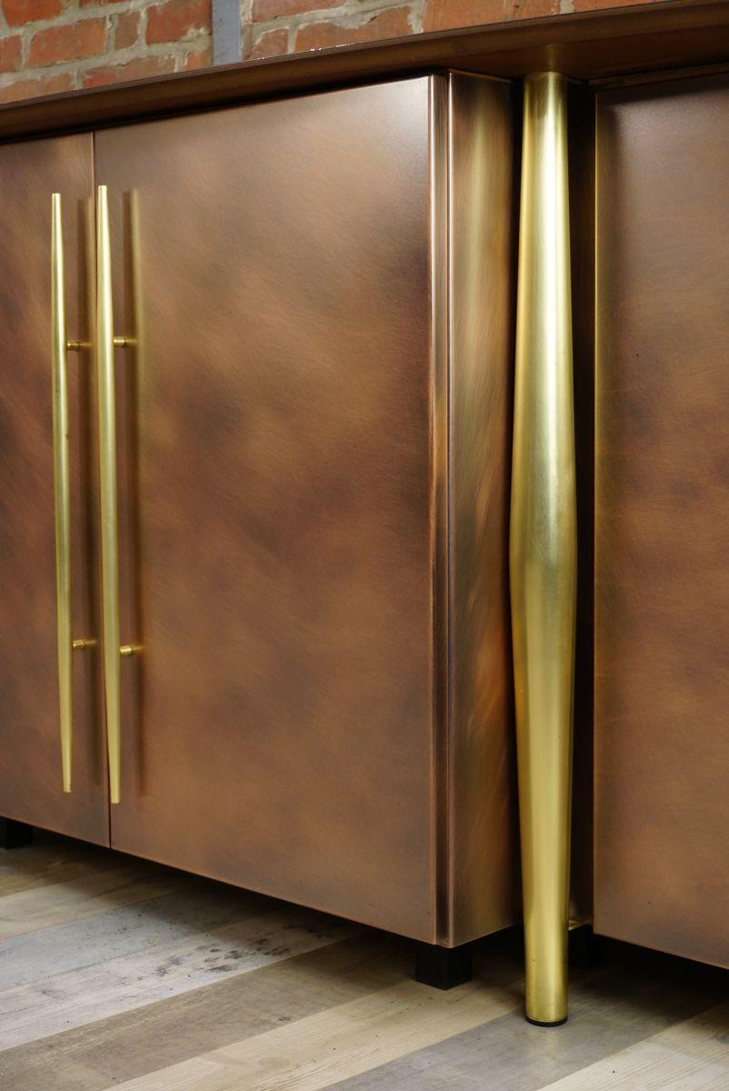 enfilade vintage en cuivre et laiton de belgo chrom en vente sur pamono. Black Bedroom Furniture Sets. Home Design Ideas