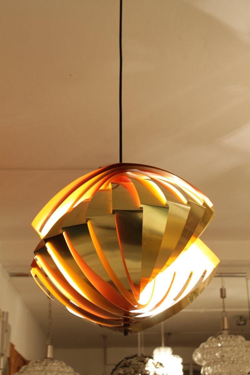 Konkylie pendant lamp by louis weisdorf for lyfa 1960s