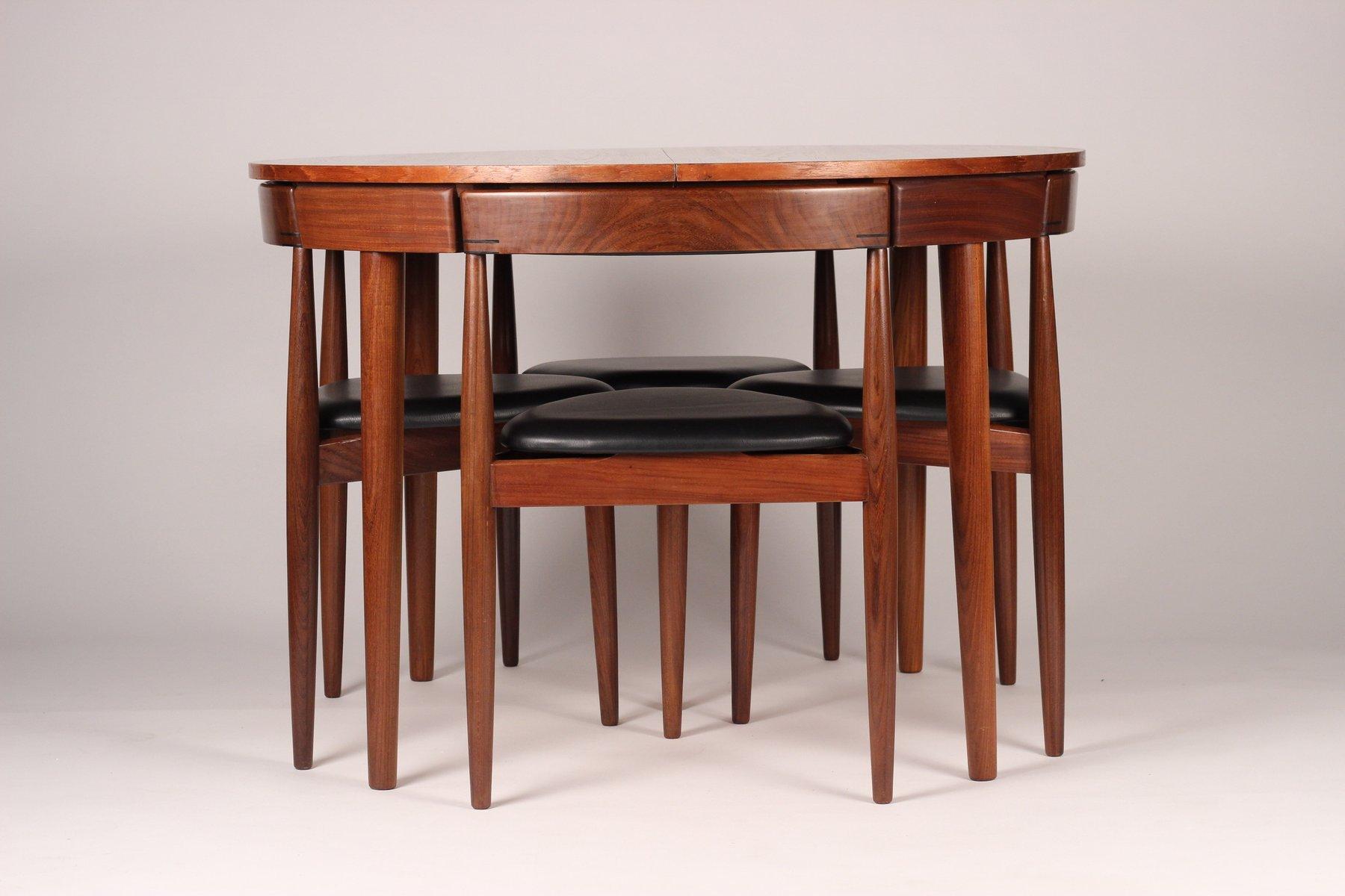 ausziehbarer esstisch mit 6 st hle von hans olsen f r frem r jle 1950er bei pamono kaufen. Black Bedroom Furniture Sets. Home Design Ideas