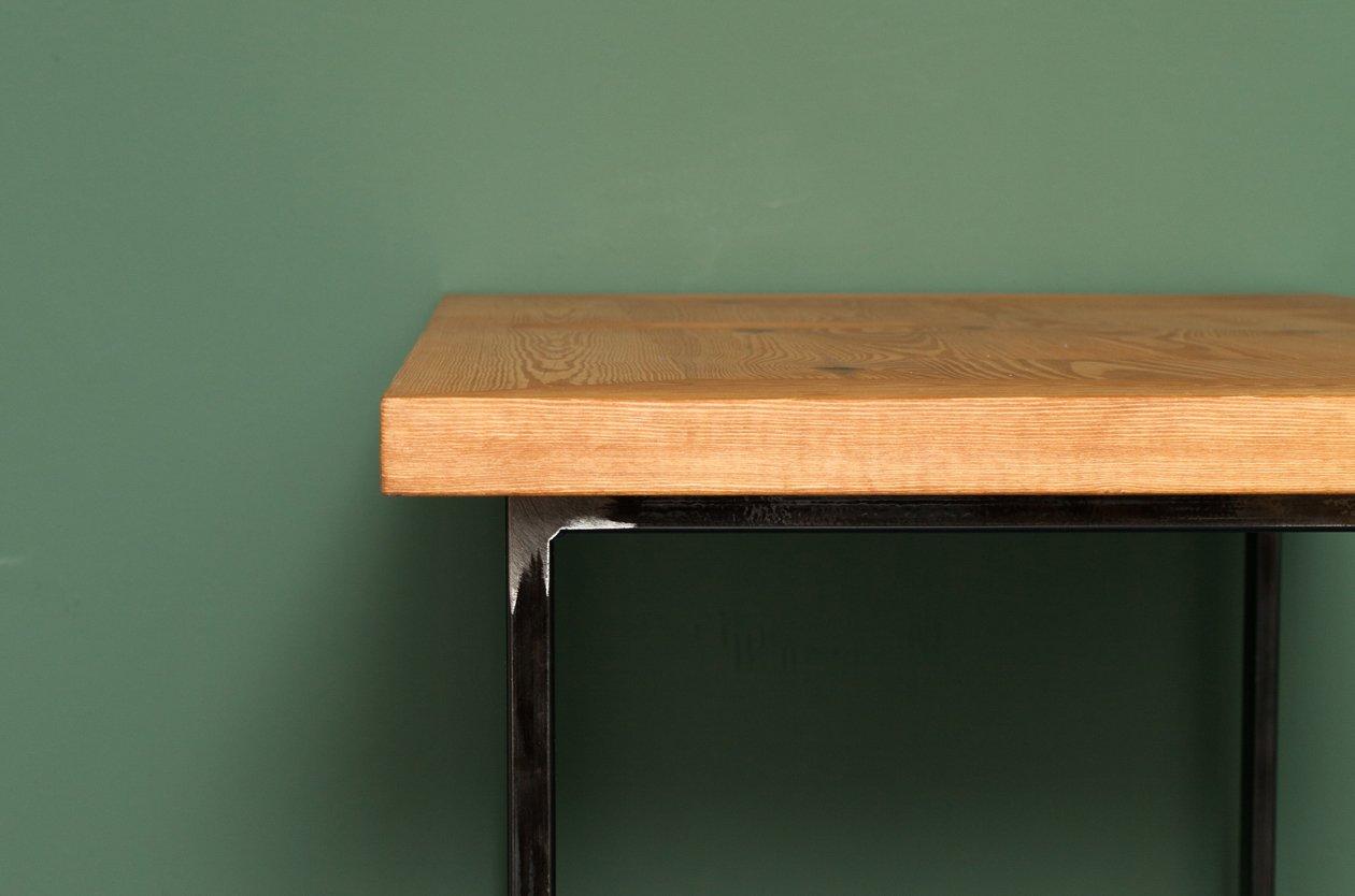 heerlen k chentisch aus recycletem holz und stahl von johanenlies bei pamono kaufen. Black Bedroom Furniture Sets. Home Design Ideas