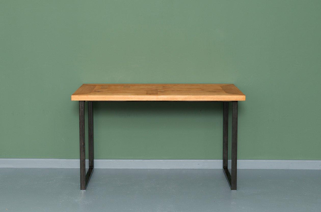 Tavoli Da Pranzo In Legno Riciclato : Tavolo da cucina heerlen in legno riciclato ed acciaio di