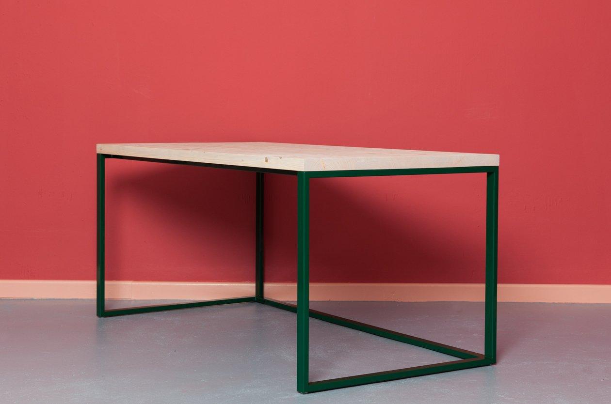 bureau maastricht en bois recycl acier par johanenlies en vente sur pamono. Black Bedroom Furniture Sets. Home Design Ideas