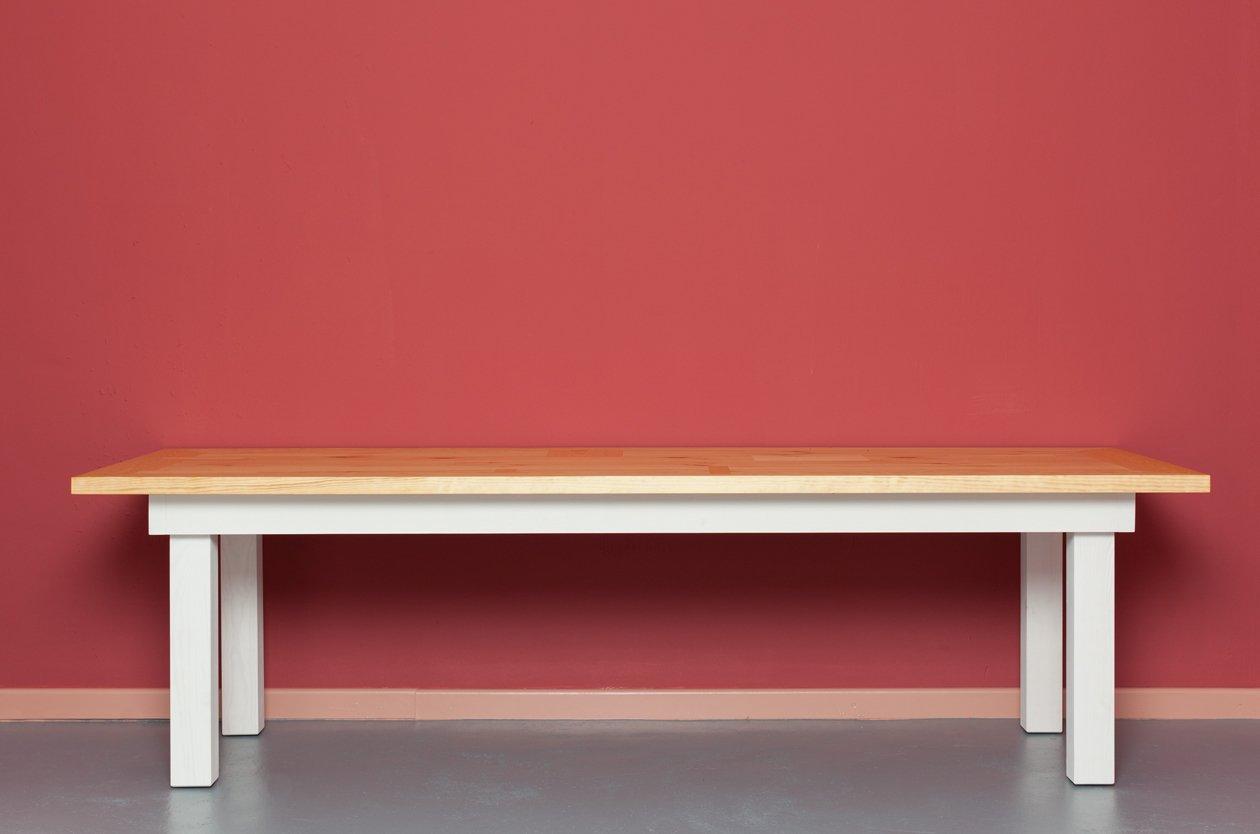 helmholtz tisch aus recycletem holz von johanenlies bei pamono kaufen. Black Bedroom Furniture Sets. Home Design Ideas