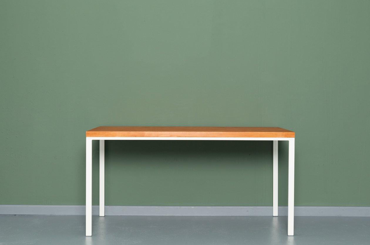 SIMPELVELD | Küchentisch aus Recycletem Schnittholz und Stahl von Joha... | Küche und Esszimmer > Esstische und Küchentische > Küchentische | Weiß | Holz