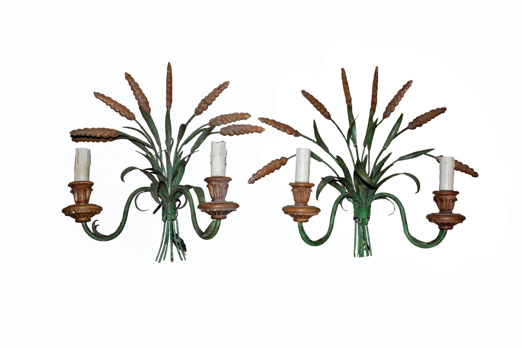 Ländliche Wandlampen, 1900er, 2er Set