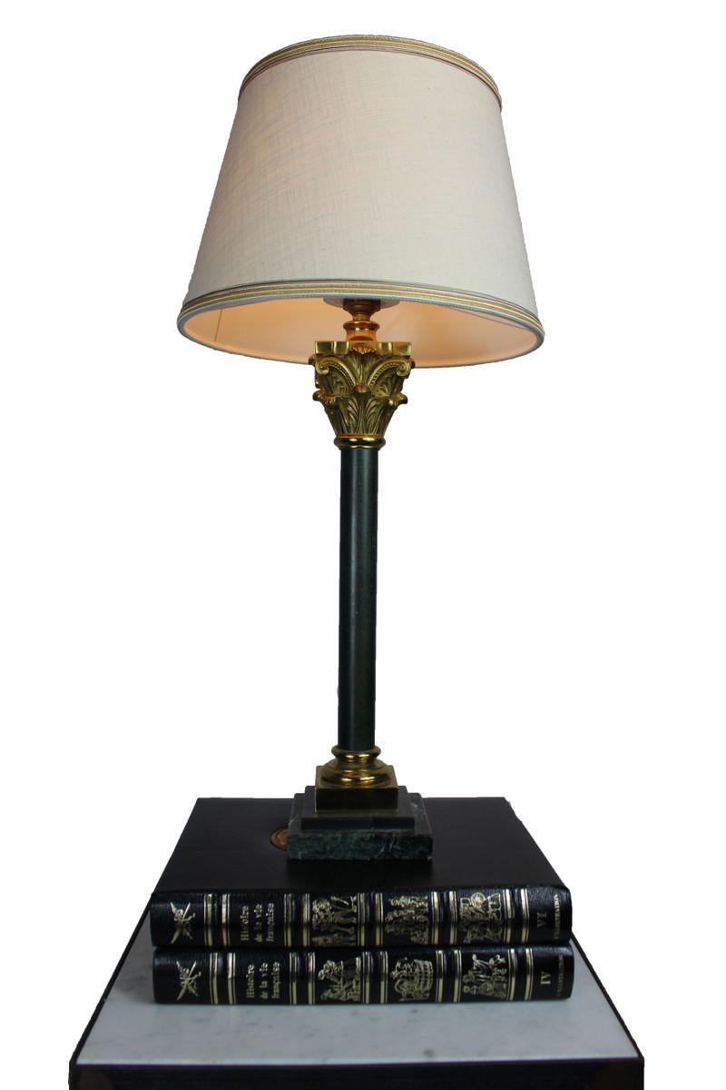 Tischlampe mit Sockel aus Marmor, 1950er