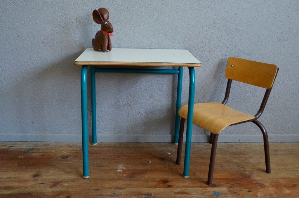 Vintage French School Desk u0026 Chair 1960s : school desk with chair - Cheerinfomania.Com