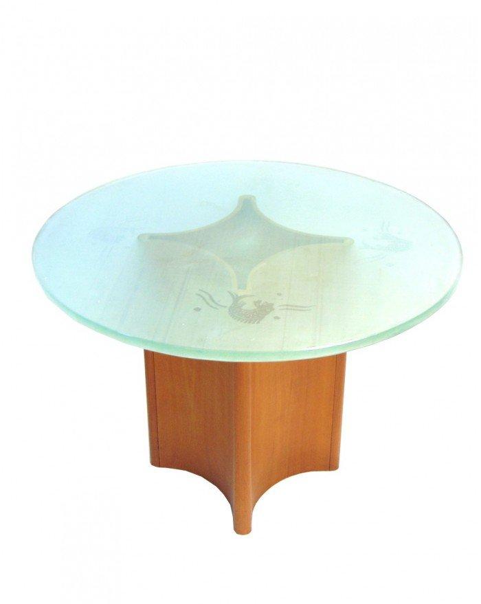 Milchglas couchtisch great design couchtisch v nussbaum walnuss milchglas carl svensson with Couchtisch mit milchglas