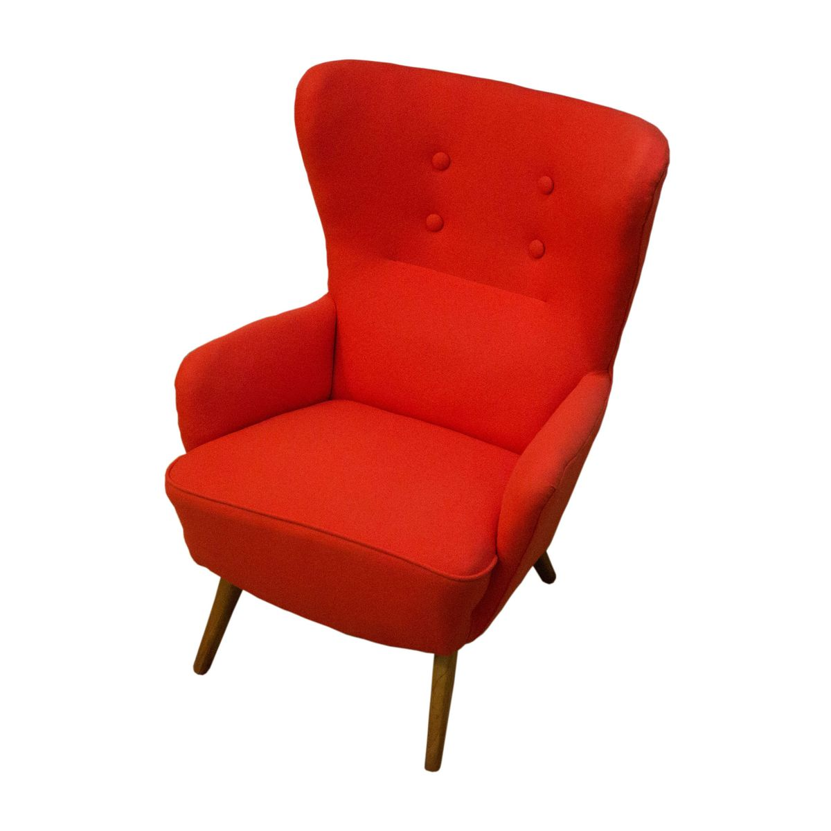 Danish Red Wing Back Armchair 1970s For Sale At Pamono