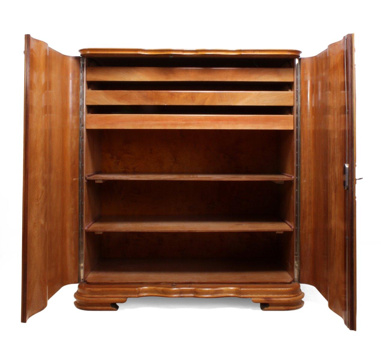 armoire linge art d co en bouleau car lien 1920s en vente sur pamono. Black Bedroom Furniture Sets. Home Design Ideas