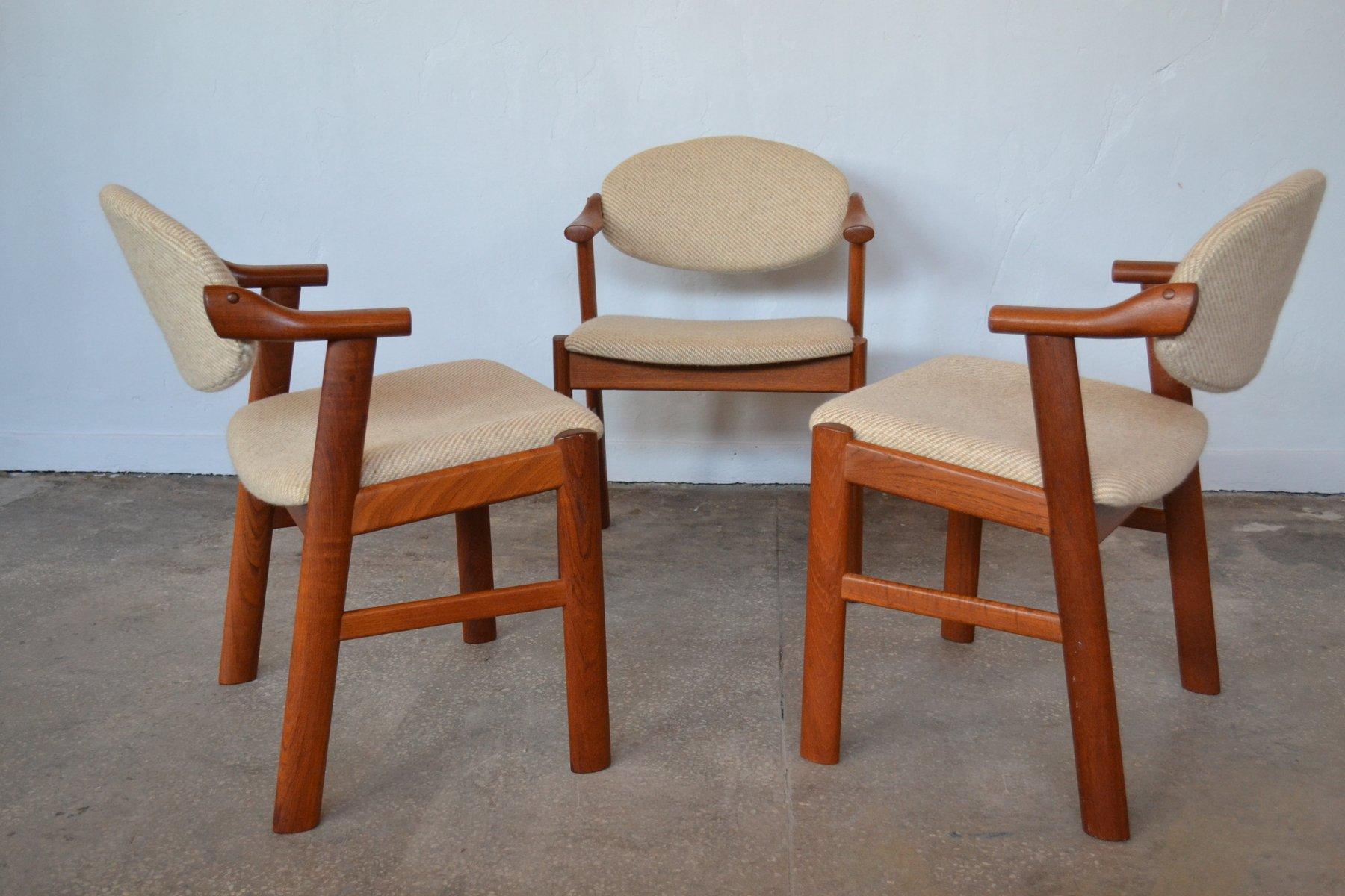 d nische st hle von kai kristiansen f r schou andersen 1960er 3er set bei pamono kaufen. Black Bedroom Furniture Sets. Home Design Ideas