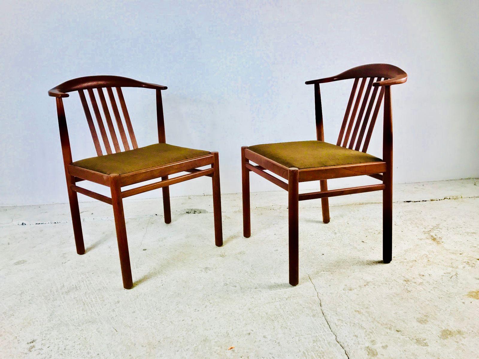 d nische vintage palisander st hle 1960er 2er set bei pamono kaufen. Black Bedroom Furniture Sets. Home Design Ideas