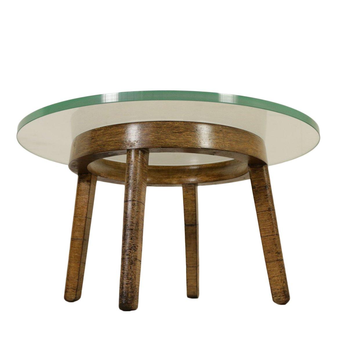 table basse vintage en bois d coratif verre en vente sur pamono. Black Bedroom Furniture Sets. Home Design Ideas