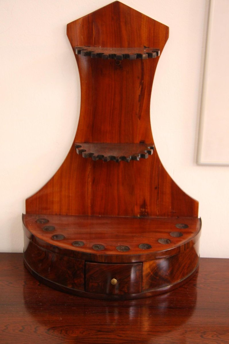 Antique Walnut & Cherry Pipe Stand. Holiday Sale. Antique Walnut ... - Antique Walnut & Cherry Pipe Stand For Sale At Pamono