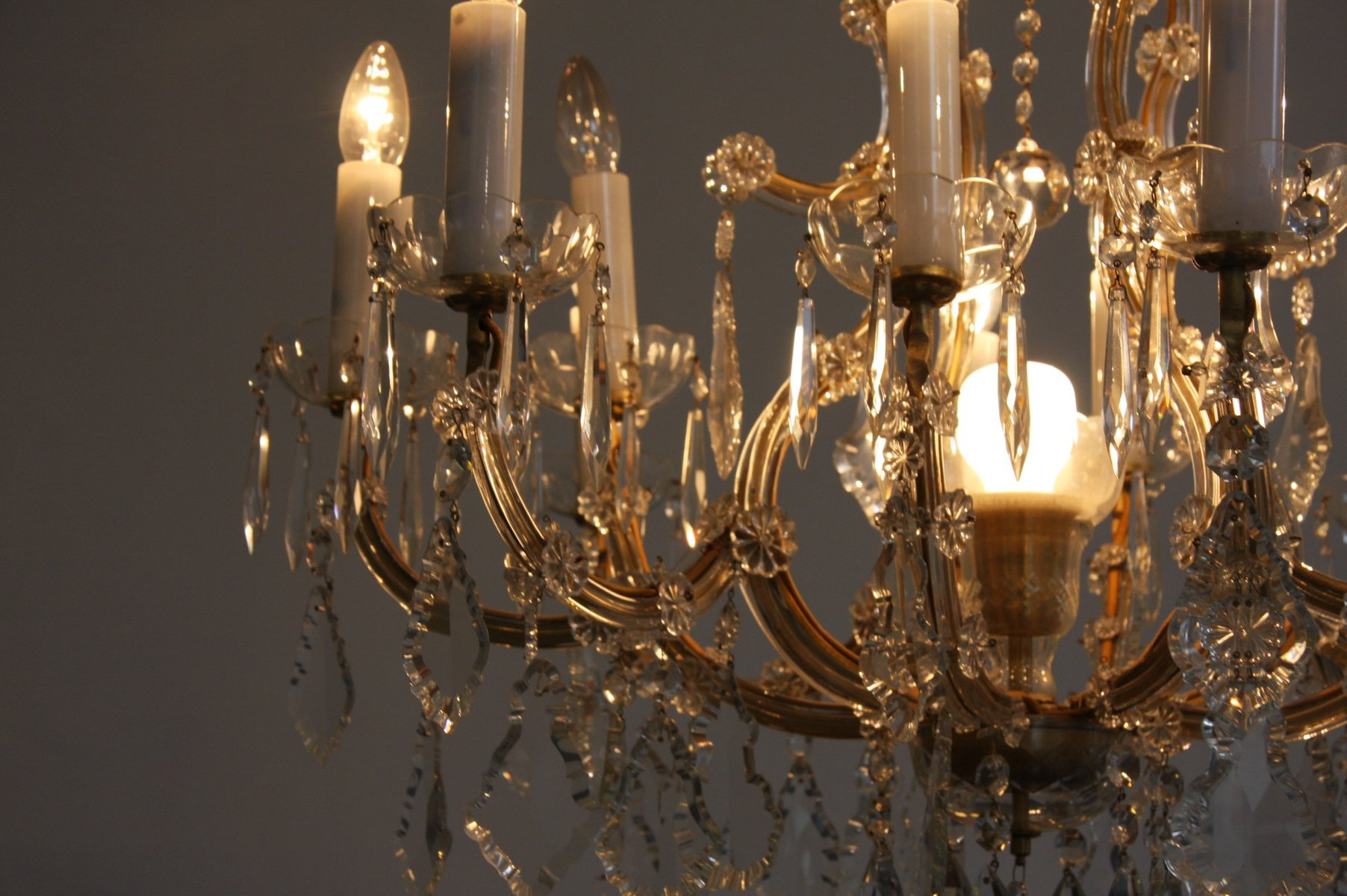 lustre antique en cristal en vente sur pamono. Black Bedroom Furniture Sets. Home Design Ideas