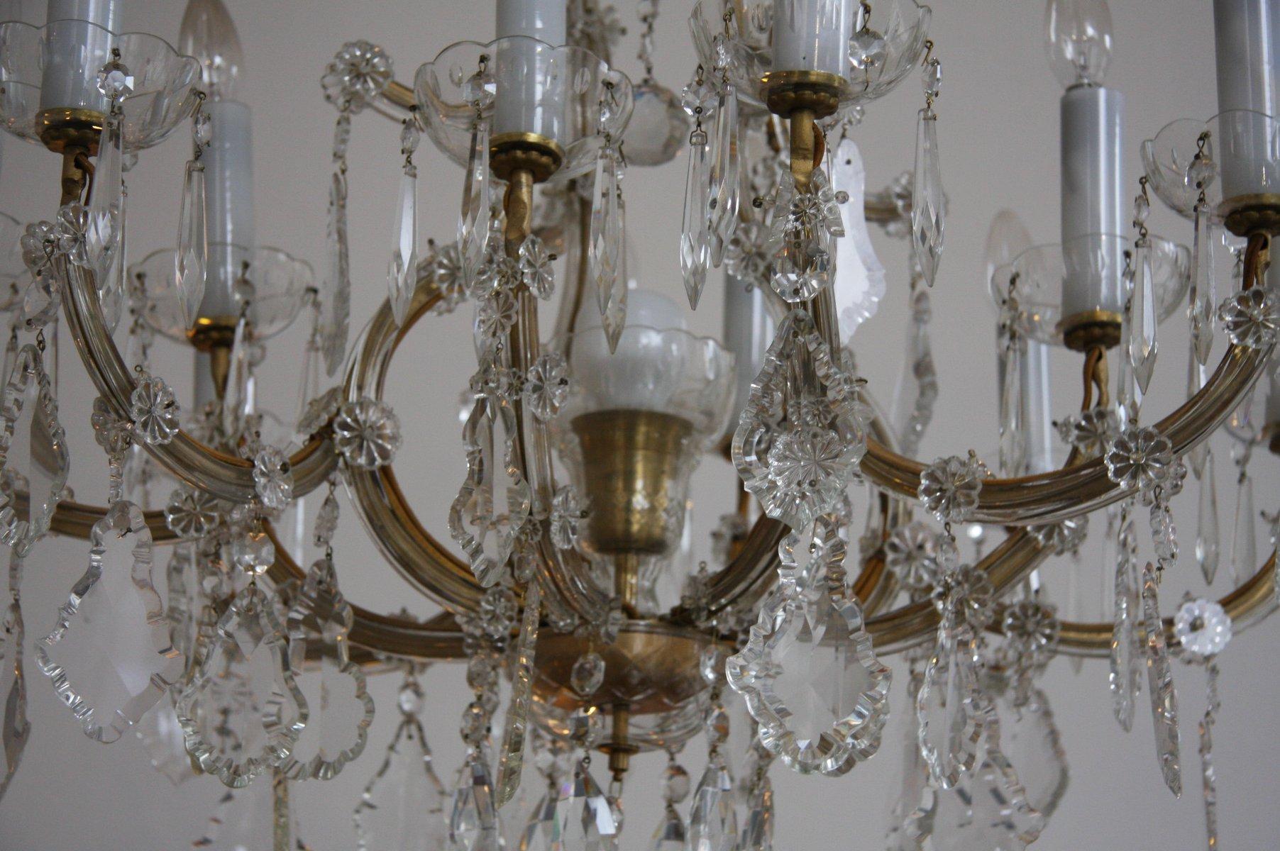 Lampadario Antico Con Angeli : Lampadario antico ottone e cristallo lampadario antico di