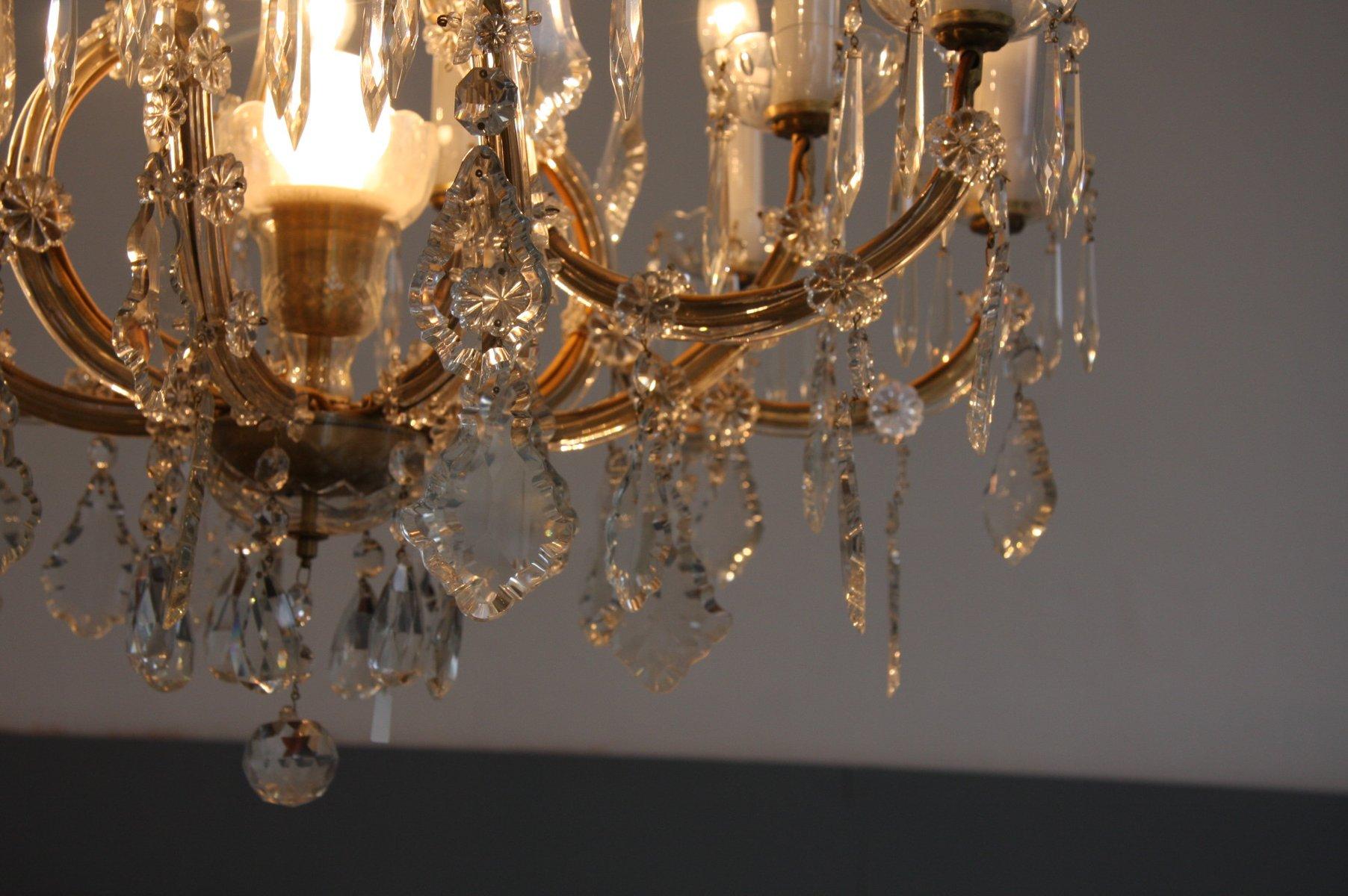 Kronleuchter 9 Flammig Kristall ~ Antiker kristallglas kronleuchter bei pamono kaufen