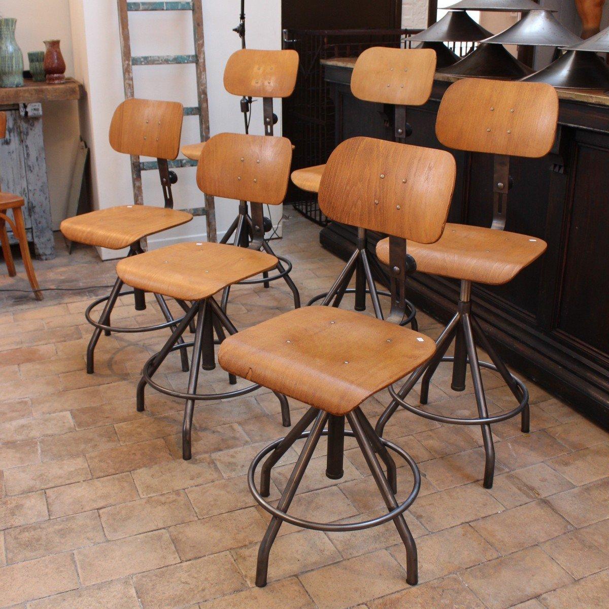 chaise vintage industrielles par bao en vente sur pamono. Black Bedroom Furniture Sets. Home Design Ideas