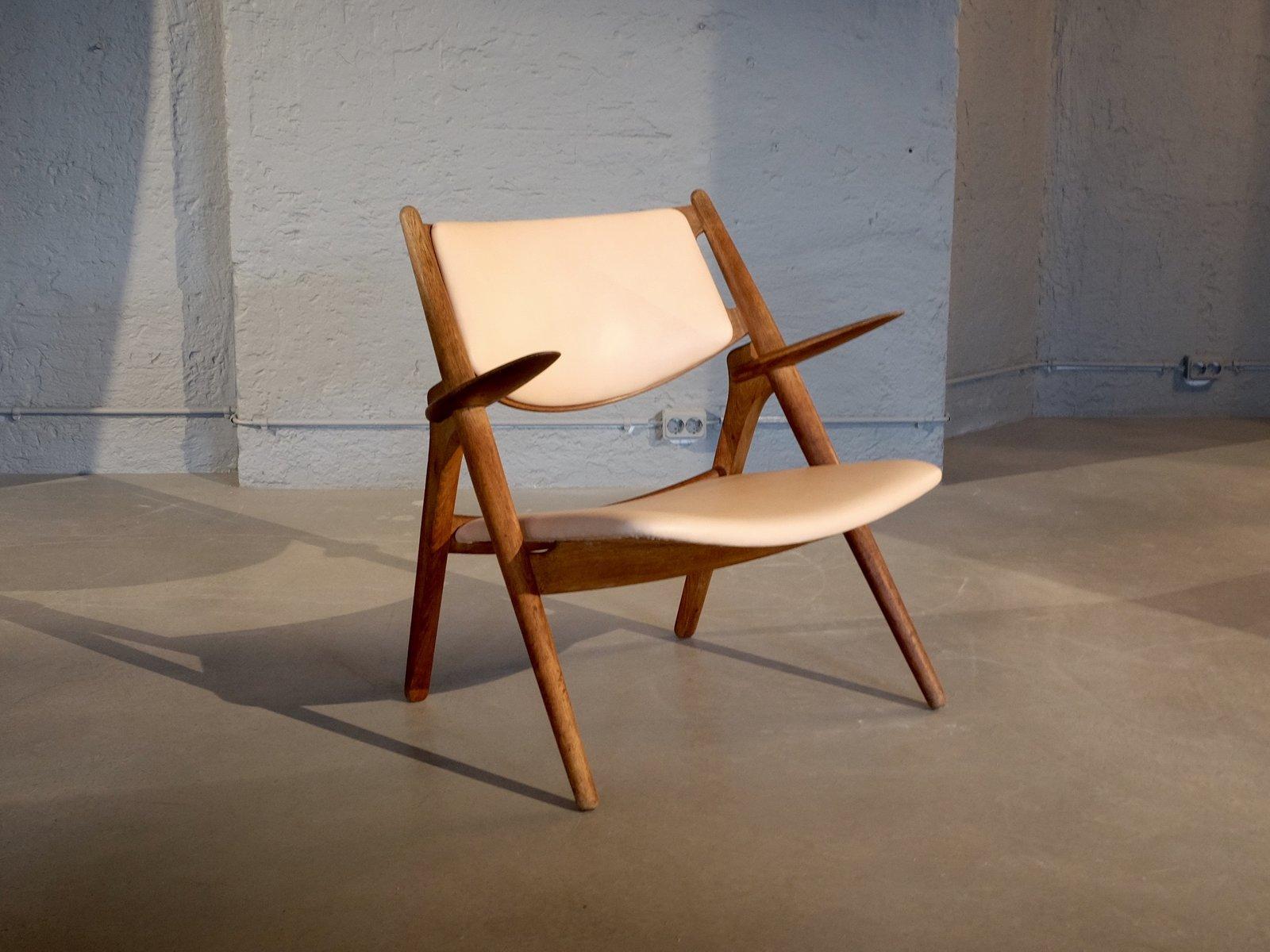 ch 28 sawbuck stuhl von hans j wegner f r carl hansen sons 1950er bei pamono kaufen. Black Bedroom Furniture Sets. Home Design Ideas