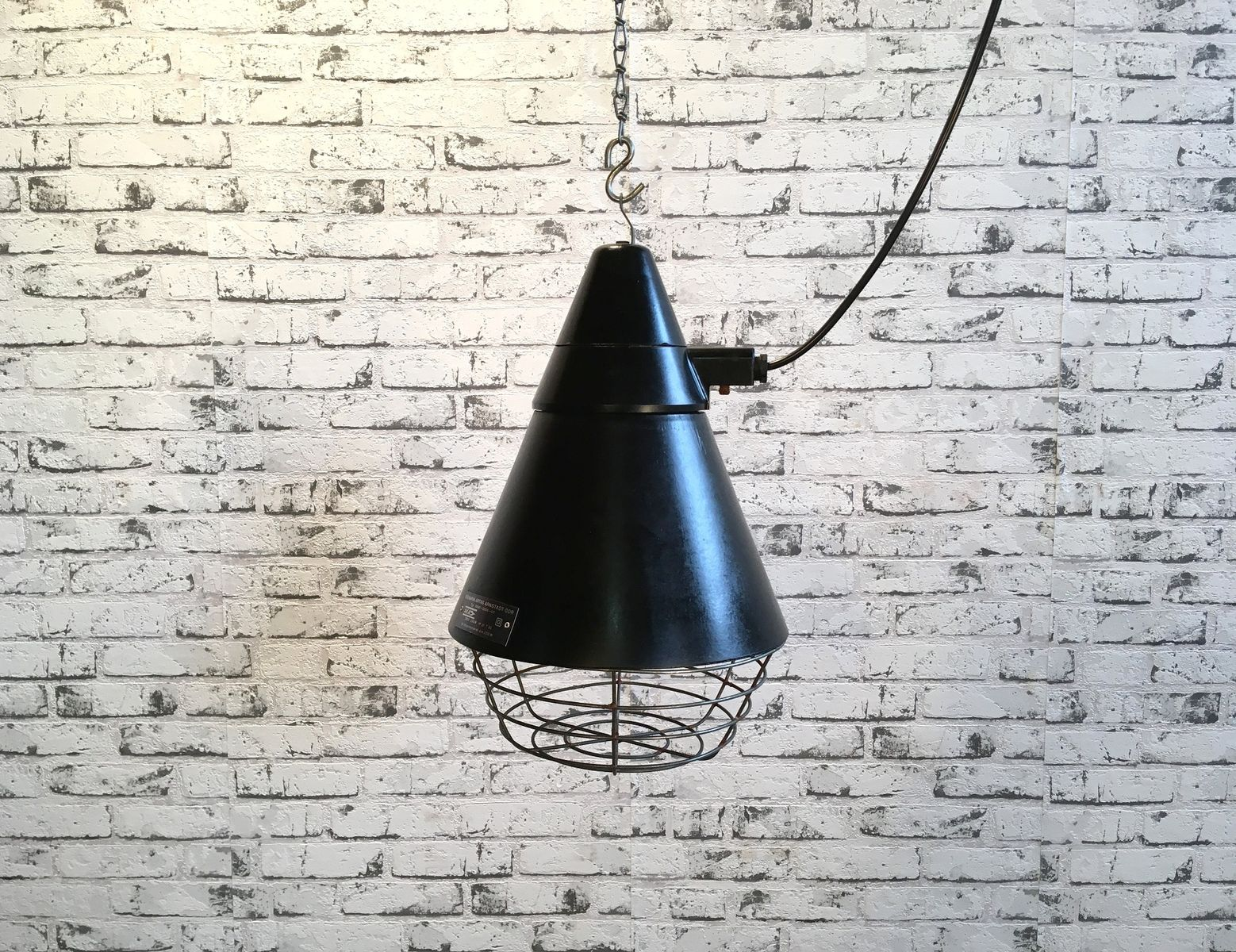 Deutsche Industrielle Lampe von VEB Narva Artas Arnstadt, 1960er