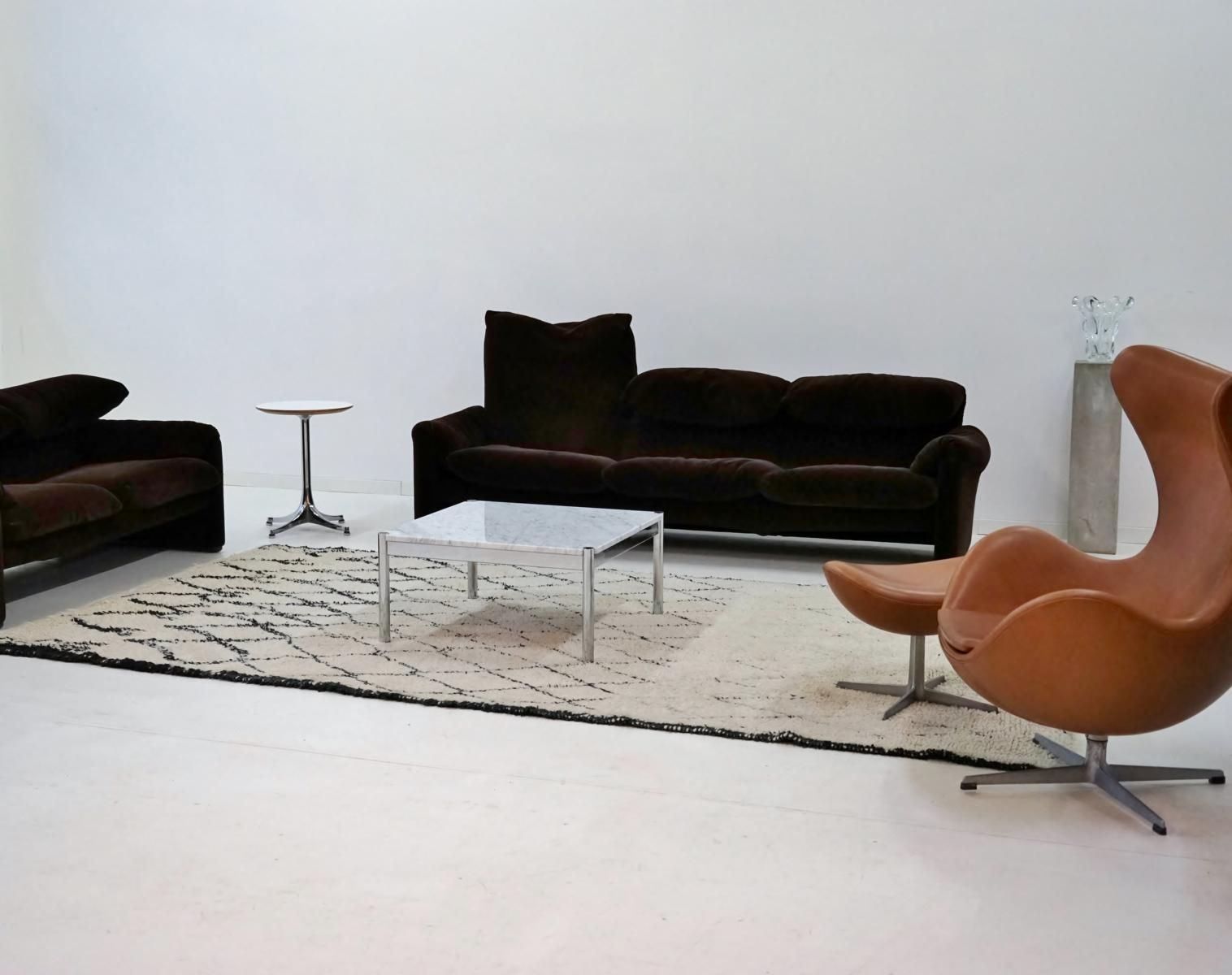 vintage couchtisch aus carrara marmor von usm haller bei. Black Bedroom Furniture Sets. Home Design Ideas