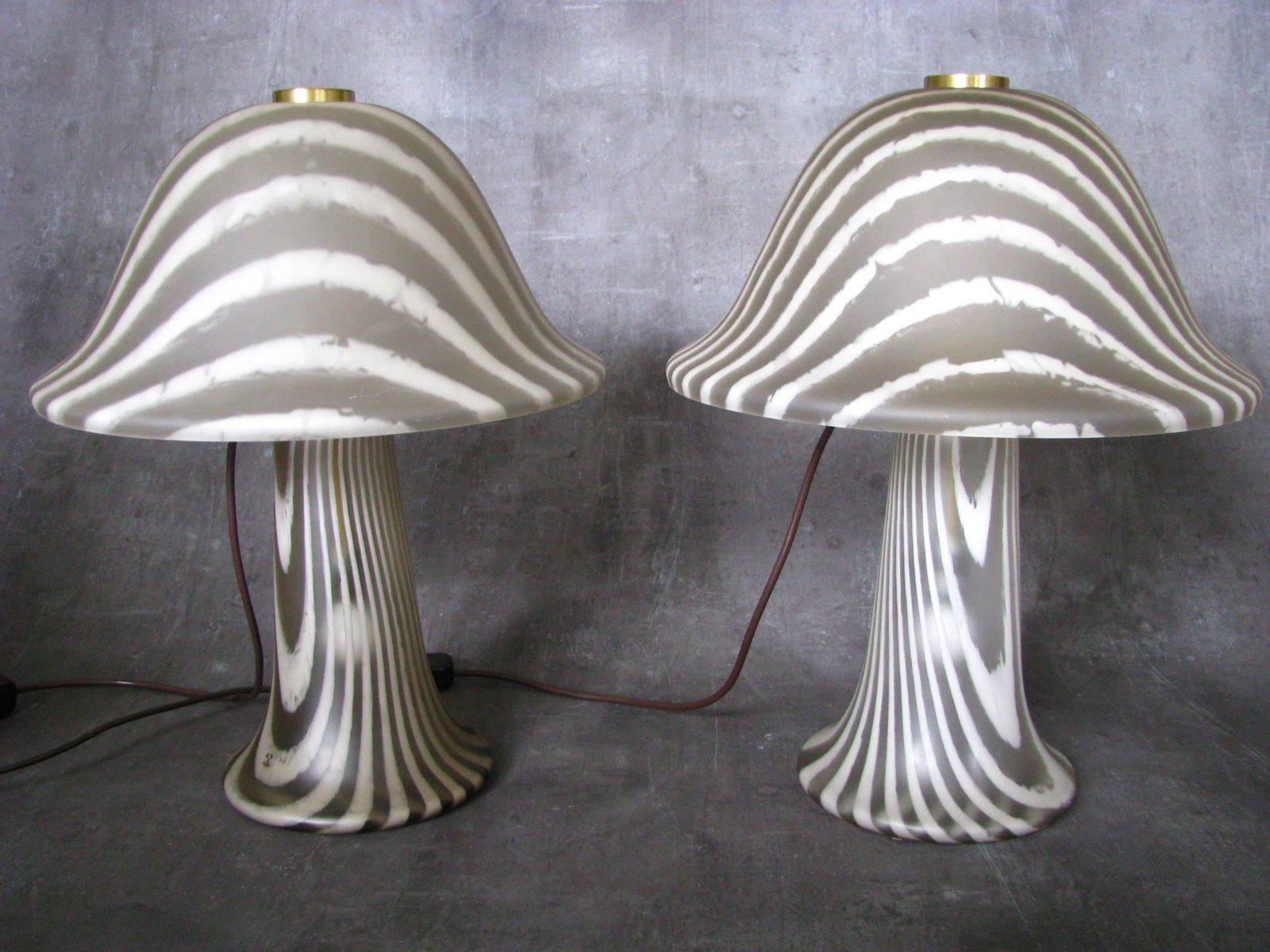 Pilz Tischlampen von Peill & Putzler, 1965, 2er Set